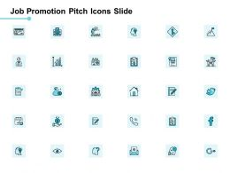 Job Promotion Pitch Icons Slide Checklist Ppt Powerpoint Presentation File