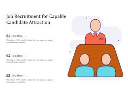 Job Recruitment For Capable Candidate Attraction
