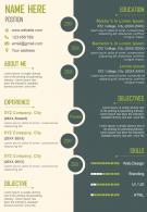 Job Resume A4 Size 2 Page CV Design Template