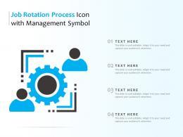 Job Rotation Process Icon With Management Symbol