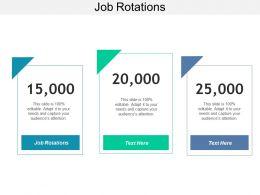 Job Rotations Ppt Powerpoint Presentation Inspiration Model Cpb