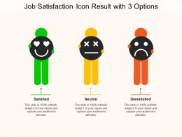Job Satisfaction Icon Result With 3 Options