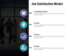 Job Satisfaction Model Ppt Powerpoint Presentation Layouts Professional Cpb