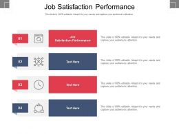 Job Satisfaction Performance Ppt Powerpoint Presentation Slides Smartart Cpb