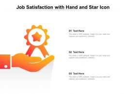 Job Satisfaction With Hand And Star Icon