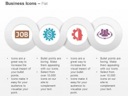 Job Search Financial Process Control Business Network Ppt Icons Graphics