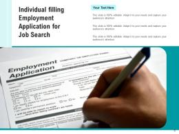 Job Search Individual Employment Application Magnifying Glass Responsibilities