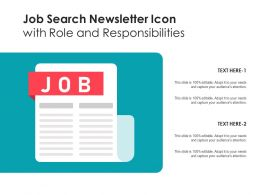 Job Search Newsletter Icon With Role And Responsibilities
