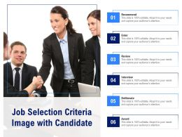 Job Selection Criteria Image With Candidate