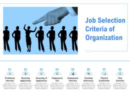 Job Selection Criteria Of Organization