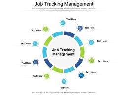 Job Tracking Management Ppt Powerpoint Presentation Slides Design Inspiration Cpb