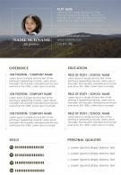 Job Winning Curriculum Vitae Format Editable Resume Template