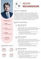 Job Winning Resume Sample Infographic Template