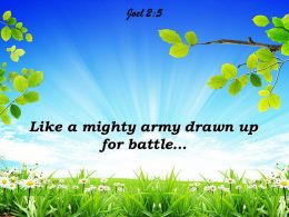 Joel 2 5 Like A Mighty Army Powerpoint Church Sermon