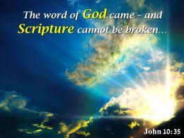 John 10 35 The Word Of God Came Powerpoint Church Sermon