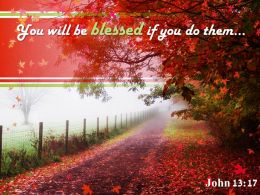 John 13 17 You Will Be Blessed Powerpoint Church Sermon