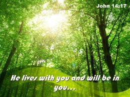 John 14 17 He Lives With You Powerpoint Church Sermon