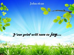 John 16 20 Your Grief Will Turn To Joy Powerpoint Church Sermon