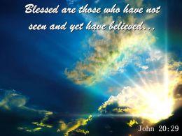 John 20 29 Then Jesus Told Him Powerpoint Church Sermon