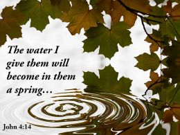 John 4 14 The Water I Give Them Will Powerpoint Church Sermon