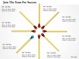 Join The Team For Success Powerpoint Templates