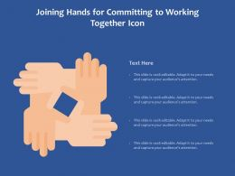 Joining Hands For Committing To Working Together Icon