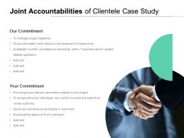 Joint Accountabilities Of Clientele Case Study Ppt Powerpoint Presentation Icon Styles