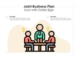 Joint Business Plan Icon With Dollar Sign