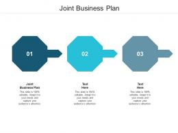 Joint Business Plan Ppt Powerpoint Presentation Icon Designs Download Cpb
