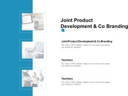 Joint Product Development And Co Branding Ppt Powerpoint Icon Cpb