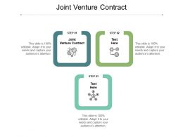 Joint Venture Contract Ppt Powerpoint Presentation Professional Portrait Cpb
