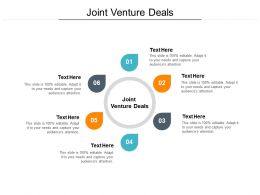 Joint Venture Deals Ppt Powerpoint Presentation Professional Graphics Cpb