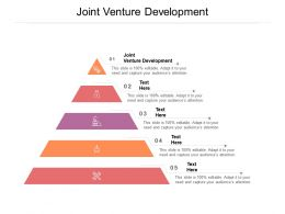 Joint Venture Development Ppt Powerpoint Presentation File Ideas Cpb