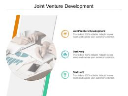 Joint Venture Development Ppt Powerpoint Presentation Styles Model Cpb