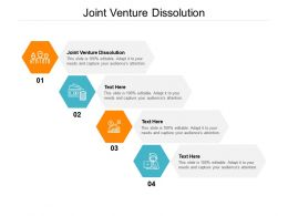 Joint Venture Dissolution Ppt Powerpoint Presentation Gallery Cpb