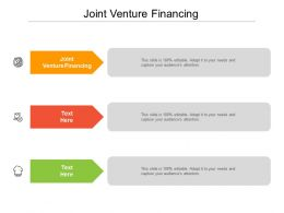 Joint Venture Financing Ppt Powerpoint Presentation Styles Slideshow Cpb