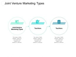 Joint Venture Marketing Types Ppt Powerpoint Presentation Outline Smartart Cpb
