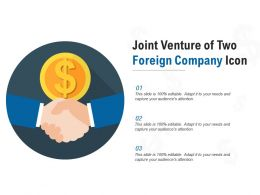 Joint Venture Of Two Foreign Company Icon