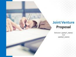 Joint Venture Proposal Powerpoint Presentation Slides