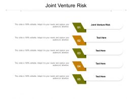 Joint Venture Risk Ppt Powerpoint Presentation Inspiration Backgrounds Cpb