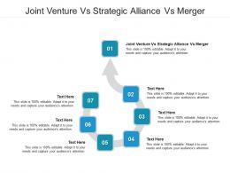 Joint Venture Vs Strategic Alliance Vs Merger Ppt Powerpoint Presentation Gallery Graphics Cpb