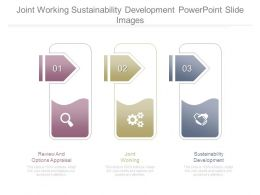 Joint Working Sustainability Development Powerpoint Slide Images
