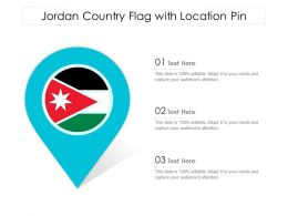 Jordan Country Flag With Location Pin