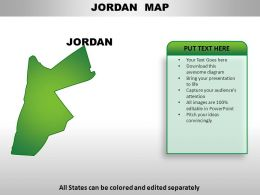 Jordan Country PowerPoint Maps