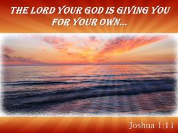 Joshua 1 11 The LORD Your God Is Giving Powerpoint Church Sermon