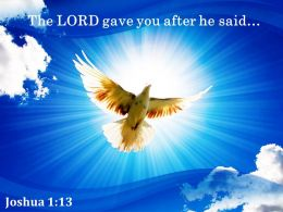 Joshua 1 13 The LORD Gave You After Powerpoint Church Sermon