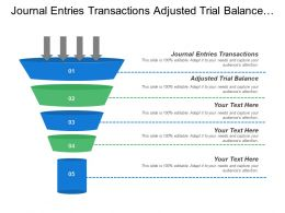 Journal Entries Transactions Adjusted Trial Balance Brand Range