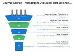 Journal Entries Transactions Adjusted Trial Balance Brand Range