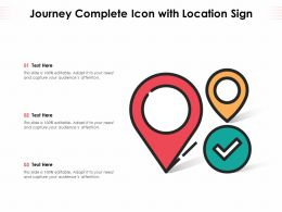 Journey Complete Icon With Location Sign
