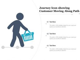 Journey Icon Showing Customer Moving Along Path
